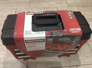 Craftsman 185 Piece Mechanics Tool Set With 3 Drawer Chest New