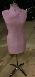 Vtg Acme Miracle Stretch Dress Form Mannequin Type B W base Decor Purple Cover