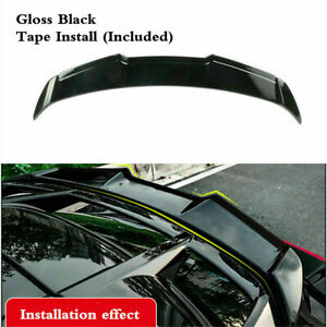 Rear Roof Black Painted Wing Lip Spoiler Fit For Toyota C hr Chr Izoa 2018 2020