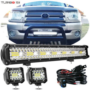20inch 126w Led Work Light Bar Spot Flood Combo 4 18w Lamp Offroad Truck 22 24