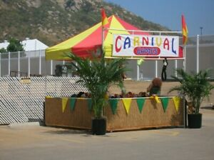 Carnival Game Booths For Sale 10x10 Ez up Canopy With 3 Wood Sides