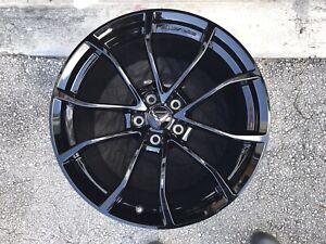 Corvette Grand Sport Wheels Gm Gloss Black 20x12 19x10 2017 19