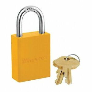 Yellow Master Lock 6835 6 pk Keyed Alike