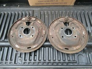 1967 1968 1969 1970 Ford Mustang Front Brake Backing Plates Pair V8