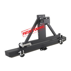 Eag Rear Bumper With Tire Carrier Hitch Receiver Fits 87 06 Jeep Wrangler Tj Yj