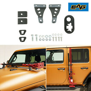 Eag Hi Lift Jack Mount Hood Hinge Door Hinge Bracket Fit For 07 19 Jeep Jk Jl