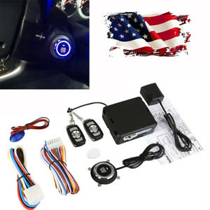 12v Car Alarm System Security Keyless Entry Engine Start Kit With Remote Control
