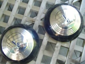 Two 1939 Ford Super Delux Coupe Sedan Pilot Roadster Pickup Hubcaps Wheel Covers