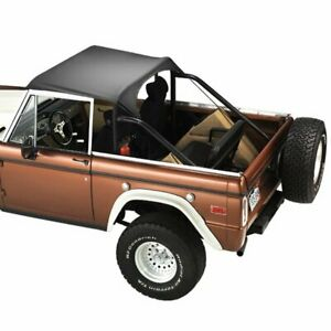 Fits Ford Bronco 1971 1977black Crush Tops Sun Shade 52542 01