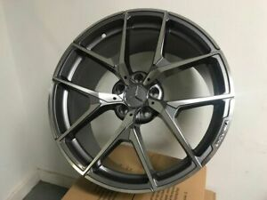 20 Staggered Mercedes Benz Amg Y Spoke Style Gunmetal Rims Wheels Fits S Class