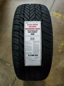 235 55r17 Vogue Tyre Custom Built Radial Special Red Stripe R W 99h Set Of 4