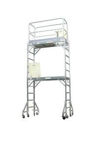 Scaffold Aluminum Scaffold Rolling Tower Standing At 12 High Hatch Dech With
