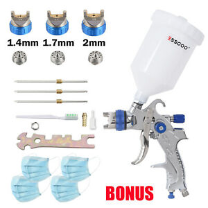 Essgoo G2008 Hvlp Spray Gun Kit 1 4 1 7 2 0 With 600ml Cup Car Primer Clearcoat