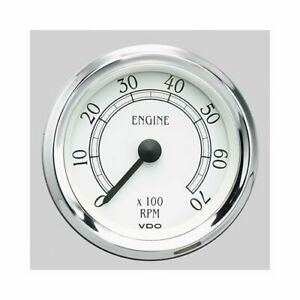 Vdo Cockpit Royale Series Tachometer 0 7 000 3 3 8 Dia In Dash White Face