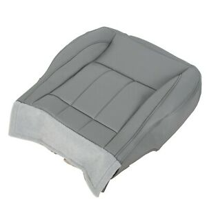 For 06 09 Dodge Ram 1500 2500 3500 Laramie Driver Side Bottom Seat Cover Gray