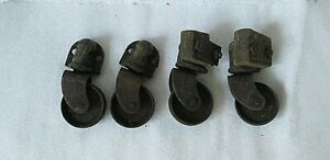 Set Of 4 Vintage antique Cast Iron Wheels Casters Industrial 2 25 Wheel