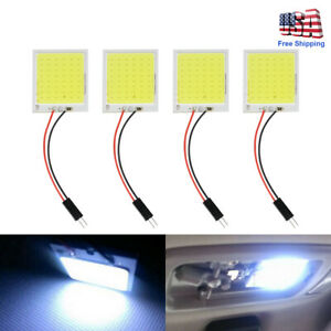 4pcs 48smd White Cob Led Dome Map Light Bulb T10 Car Interior Panel Lamp Blubs