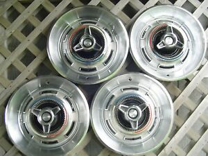 1966 1967 Chrysler Three Hundred 300 Hubcaps Wheel Covers Mopar Dodge Plymouth