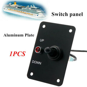 12volts Aluminum Anchor Winch Windlass Switch Up down Toggle Control Panel W led