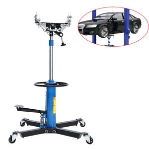 1000lbs Hydraulic Transmission Jack 2 Stage Height Adjustable Auto Shop Car Lift