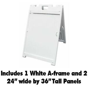 White A Frame Sandwich Sign W 2 24 Wide By 36 Tall Single Sided Coro Signs