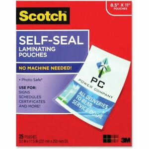 Scotch Self sealing Laminating Pouch 9 X 11