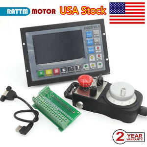 usa 4 Axis Offline Stand alone Controller System G Code Cnc Router Kit W Mpg