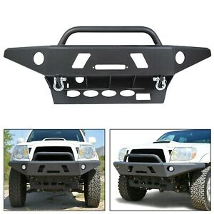 For Tacoma 05 15 Front Bumper all Models Winch Ready Led Hole Offroad Steel
