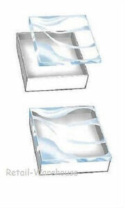 Jewelry Gift Boxes 100 Clear Lid View Top Cotton Filled 3 1 2 X 3 1 2 X 1