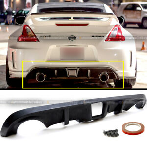 Fit 09 19 Nissan 370z Unpainted Polyurethane Oe Style Rear Bumper Lip Diffuser