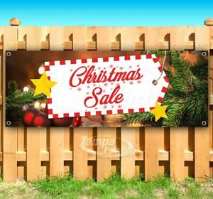 Christmas Sale Advertising Vinyl Banner Flag Sign Many Sizes Available Holidays