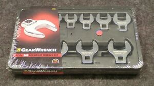 New Gearwrench 81908 11 Pc Sae Crowfoot Wrench Set With Tray