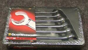 New Gearwrench 81907 6 Pc Sae Flare Nut Wrench Set With Tray