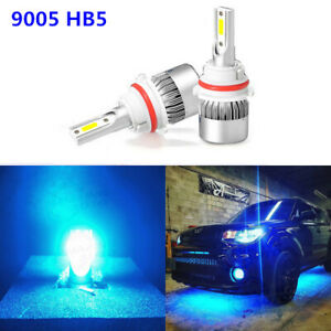 Icy Blue 8000k 9007 Hb5 Cob Led Headlight Bulbs Replacement Kit High Low Beam