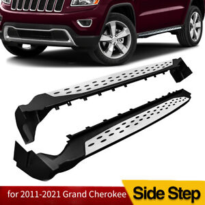 Fit 2011 2021 Jeep Grand Cherokee Side Step Oe Style Nerf Bars Running Boards
