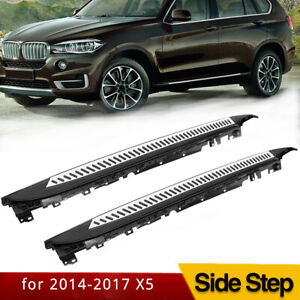 Fits 14 17 Bmw X5 F15 Running Board Side Step Nerf Bar Aluminum Oe Style Pair