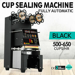 Electric Fully automatic Bubble Tea Cup Sealer Sealing Machine 500 650 Cups hr