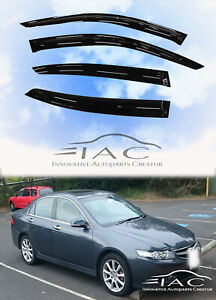 For Acura Tsx 2004 2008 Window Visor Vent Sun Shade Rain Guard Door Visor