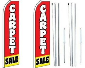 Carpet Sale Swooper Flag With Complete Hybrid Pole Set pack Of 2