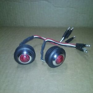 Red Bed Roll Stop tail Lights Led Chevy Gmc Truck Step Side 1955 1987
