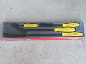 Rare Snap On Spbs704y Yellow Hard Handle 4pc Striking Pry Bar Set Prybar Spbs704