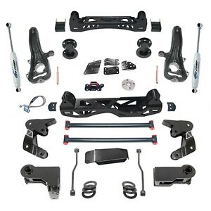 Pro Comp Block Kit 4 In Front Rear Fits 2012 2017 Ram 1500 Expk2102b