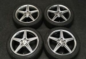 New Factory Mercedes Benz C300 C400 C450 Amg 18 Oem Wheels Winter Snow Tires
