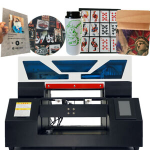 Uv Printer A3 Flatbed Cylindrical Signs Glass Metal 3d Rotation Embossed Effect