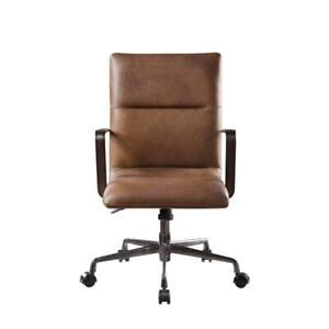 Acme Indra Executive Office Chair With Lift In Vintage Chocolate