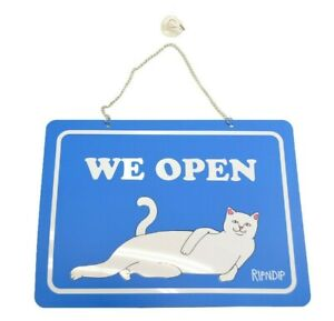 Ripndip Open closed Sign Kit Blue Nermal Rnd01sign Retail Only Storefront Sign