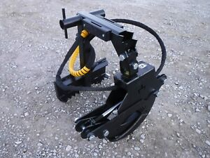 Branch Manager 56 T1001 Rotating Log Grapple Fits Mini Skid Steer Bobcat Mt