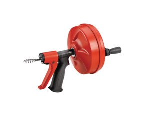 Cleaning Clog Plumbing Snake Auger Drain Opener Cleaner Powerspin Tool