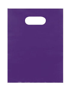 Plastic Bags 5000 Purple Shopping Merchandise Die Cut Handles 9 X 12 Diecut