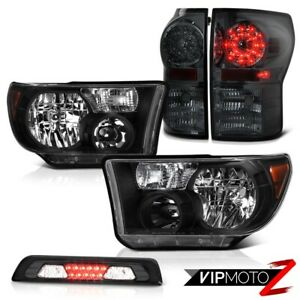 For 07 13 Toyota Tundra Sr5 Headlights Smoked High Stop Light Taillights Led Smd
